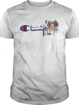 African American girl we are the champions shirts