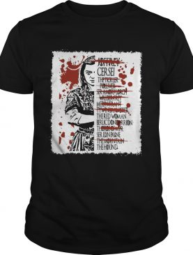 Arya Stark kills list shirts