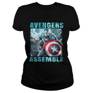 Avengers assemble Captain America ladies tee