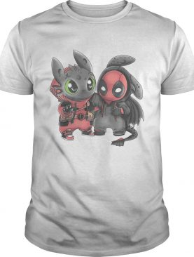 Baby toothless and Deadpool shirts