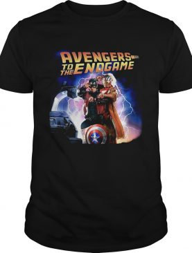 Captain America and Iron Man back to the future Avengers to the Endgame shirts