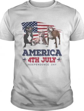 Cool Pit Bull America 4th July Independence Day T-shirts