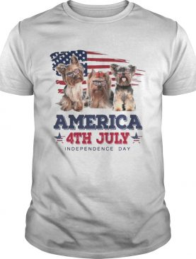 Cool Yorkshire Terrier America 4th July Independence Day T-shirts