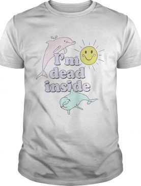 Dolphins I'm dead inside pastel shirts