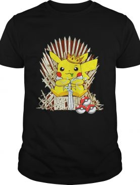 Game of Thrones Pikachu King of Iron throne shirts