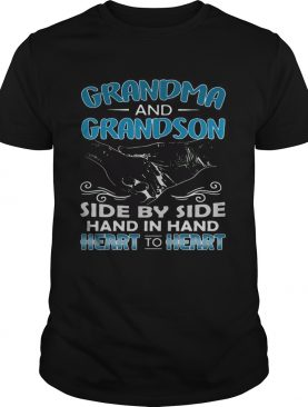 Grandma and Grandson side by side hand in hand heart to heart shirts