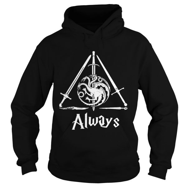 House Targaryen Always Deathly Hallows Game of Thrones Harry Potter hoodie