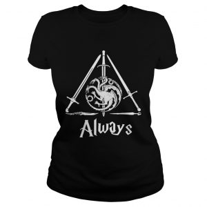 House Targaryen Always Deathly Hallows Game of Thrones Harry Potter ladies tee