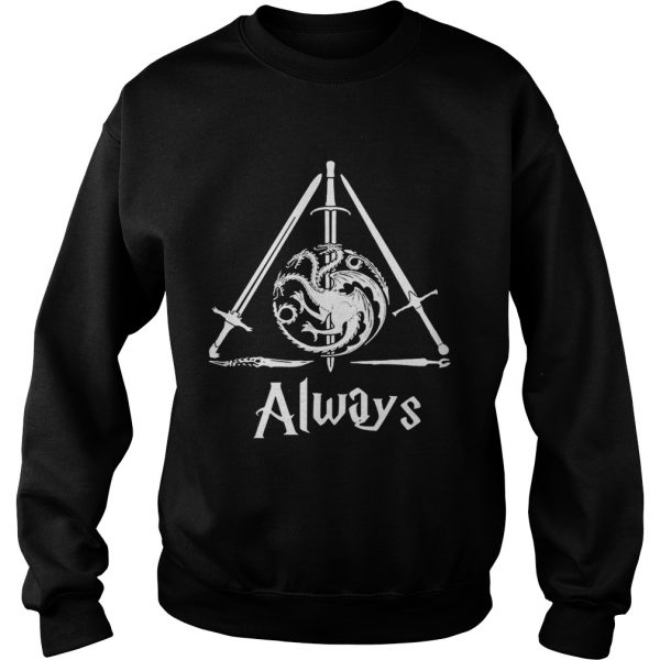 House Targaryen Always Deathly Hallows Game of Thrones Harry Potter sweatshirt