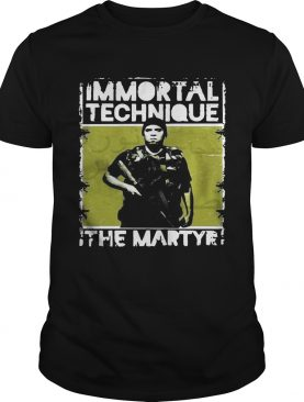 Immortal technique The Martyr shirts
