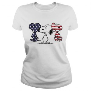 Independence day 4th of July Snoopy beauty America flag ladies tee