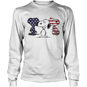 Independence day 4th of July Snoopy beauty America flag longsleeve tee
