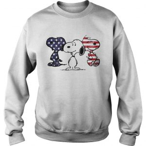 Independence day 4th of July Snoopy beauty America flag sweatshirt