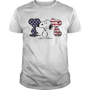 Independence day 4th of July Snoopy beauty America flag unisex