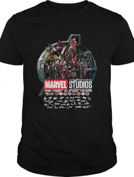 Marvel studios the first eleven years all characters' signature Avengers shirts