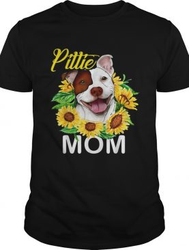 Pillie staffordshire Mom sunflowers shirts