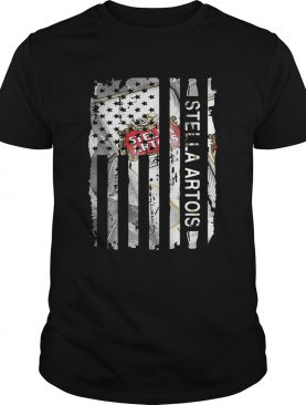 Stella Artois US flag shirts