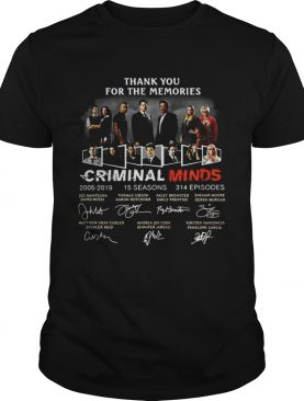 Thank you for the memories Criminal Minds 2005-2019 signature shirts
