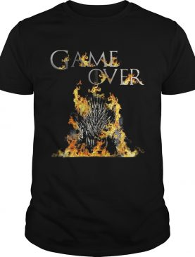 The Iron Throne burnt game over Game of Thrones shirts