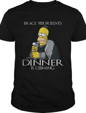 The Simpsons brace yourselves dinner is coming shirts