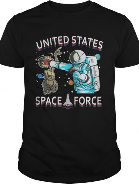 United States space force astronaut punching alien shirts