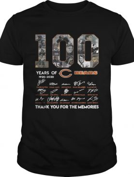 100 years of Chicago Bears 1920 2020 signature thank you for the shirt