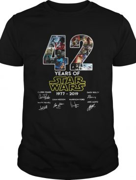 42 years of star wars 19772019 signatures shirt