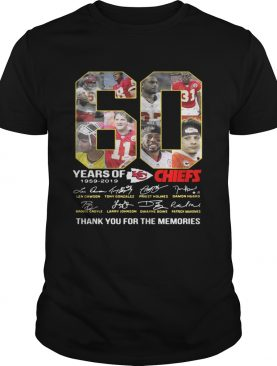 60 Years of Kansas City Chiefs 1959 2019 thank you for the memories shirts