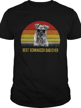 Best Schnauzer dad ever sunset shirts