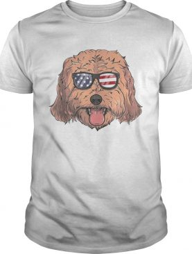 Cockapoo Dog Patriotic USA 4th of July American shirts
