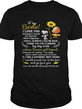 Cute Snoopy and charlie brown to be my bestie shirt