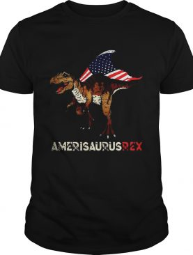 Dinosaur TRex American flag Ameri Saurus Rex 4th of July shirt