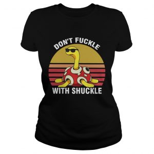 Dont fuckle with shuckle vintage sunset ladies tee