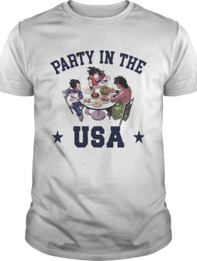 Dragon Ball characters party in the USA shirt