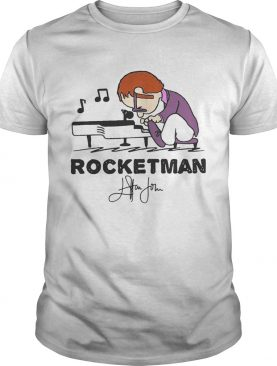 Freddie Mercury playing piano rocketman signature shirts