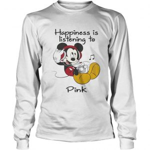 Happiness Is Listening To Pink Mickey longsleeve tee