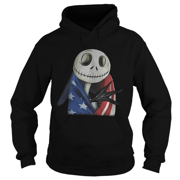 Nightmare Jack Skellington America flag hoodie