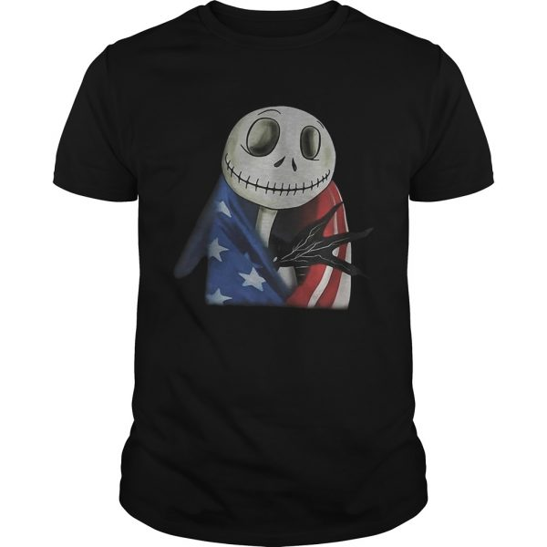 Nightmare Jack Skellington America flag unisex