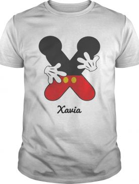 Personalized Name X Begins Mickey Hat Funny TShirt