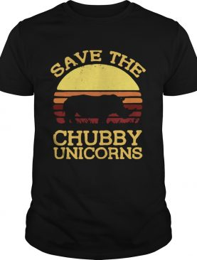 Save the chubby unicorns vintage sunset shirt