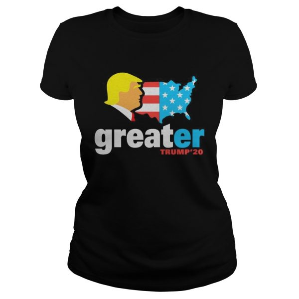 Trump make America greater 20 ladies tee