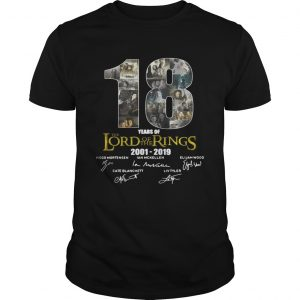 18 Year of The Lord of The Rings 2001 2019 Signature unisex