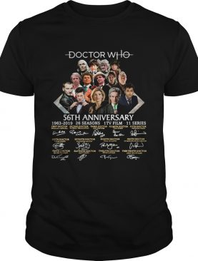 Doctor Who 56th anniversary signature shirt
