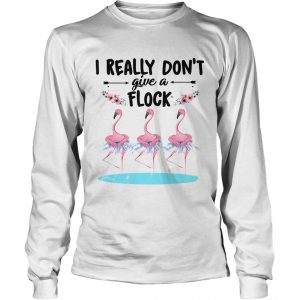 Flamingo ballet dont give a flock longsleeve tee