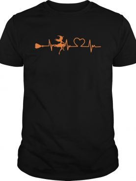 Halloween witch heartbeat shirt