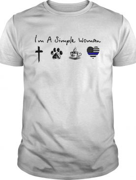 Im a simple woman I love Jesus dog coffee and Police shirt