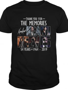 Keanu Reeves 54 years of 19964 2019 thank you for the memories shirt