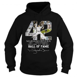 Mariano Rivera New York Yankees Hall of Fame signatures hoodie