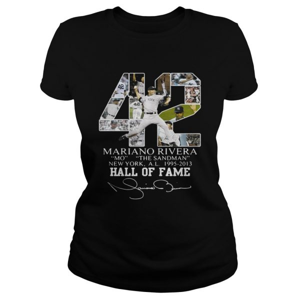 Mariano Rivera New York Yankees Hall of Fame signatures ladies tee