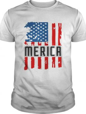 Merica Vintage American Flag 4th of July for Men Women Kids shirt